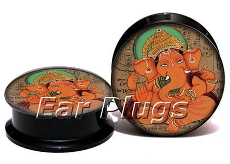 Wholesale geensha plug gauges acrylic screw ear plug flesh tunnel piercing body jewelry ASP0774