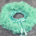 Mint blue Pettiskirt Children Turquoise tutu Chiffon girls skirt fully tutu children summer girls dress for party and wedding
