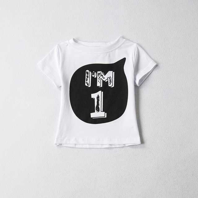 1 2 3 4 5 años cumpleaños Navidad niño Camiseta de algodón camiseta ropa infantil camiseta ropa disfraz para niños tops