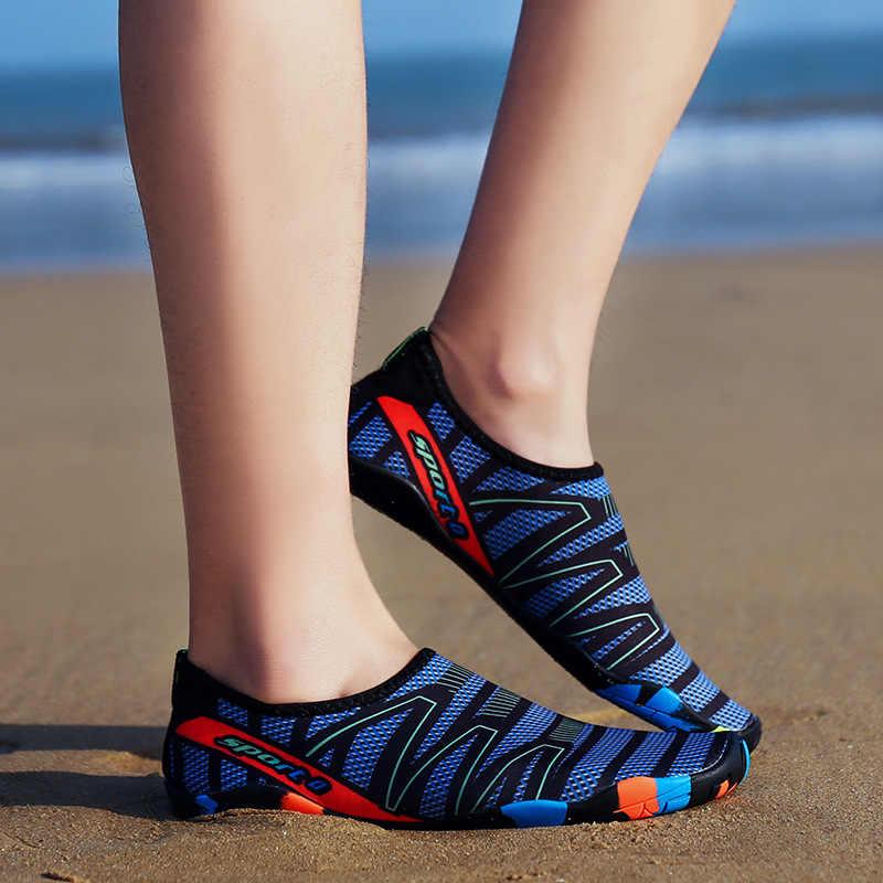 Unisex Giày Đi Biển Giày Cho Bơi Giày Nam Nữ Giày Lặn Chân Trần Aqua Giày Dép Cho Biển Giày