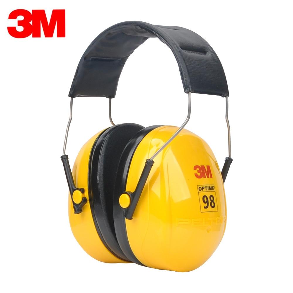 3M H9A Earmuffs Optime Earmuffs Professional Sound Insulation Earmuffs Protector for Drivers/Workers KU010 3m original earmuffs hearing conservation anti noise hearing protector for drivers workers shooters