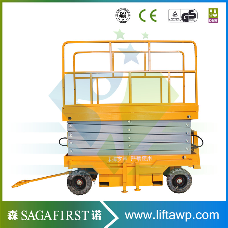 Full Electric Scissor Lift High Quality With Load Capacity 300kg 450kg 1000kg