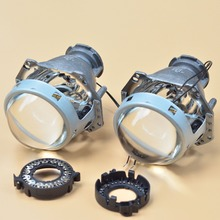 Free Shipping Car Light Parts 2 pcs 3.0 inch HELLA 3 HID Bifocal Projector Lens, with bulb adapter D2S D2R D4S D4R