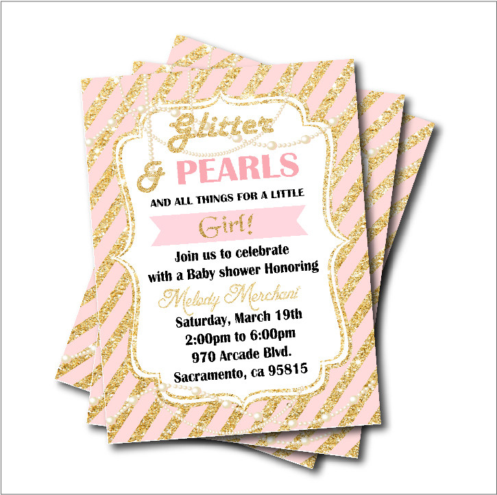 Online shop 20 pcslot cinderella carriage birthday invitations baby 20 pcslot gold glitter pearl princess baby shower party invitation birthday invites girls party stopboris Choice Image