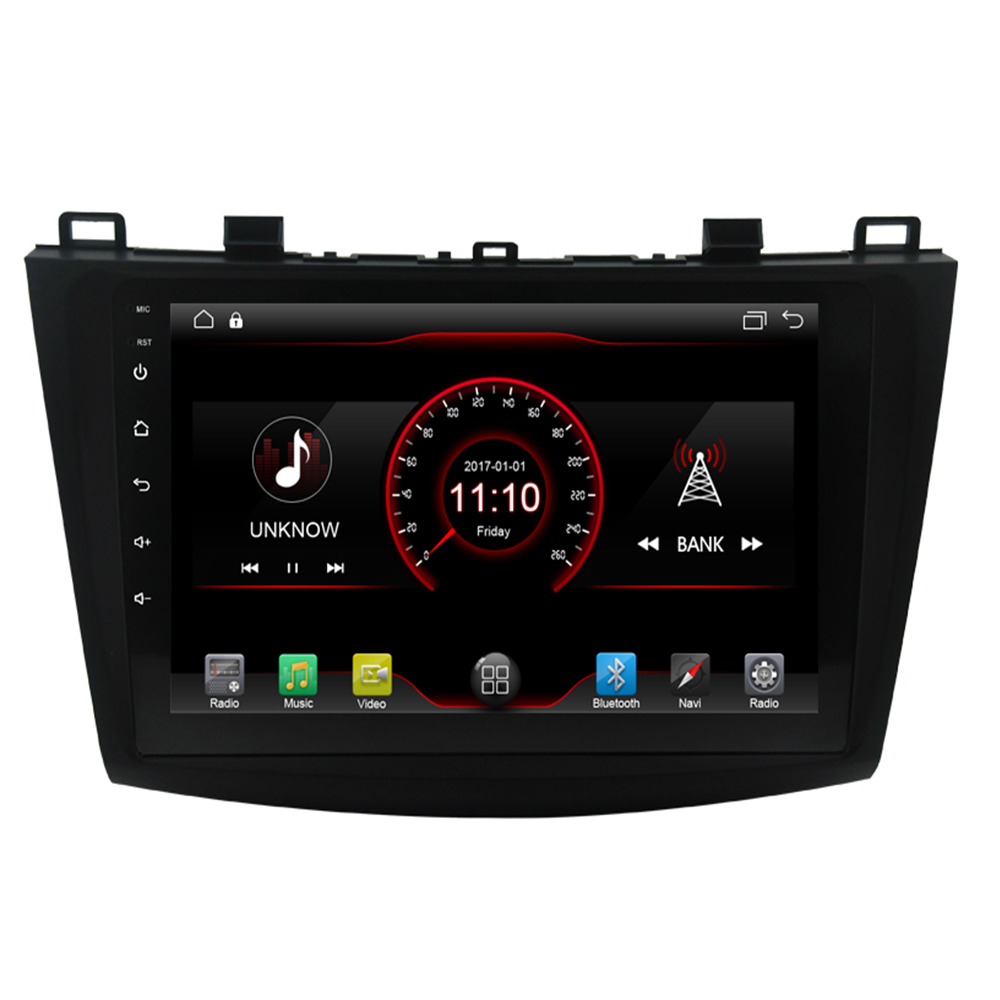 Android 9.1 Car Radio GPS Multimedia Unit Player <font><b>2Din</b></font> For 2009 2010 2011 2012 2013 <font><b>MAZDA</b></font> <font><b>3</b></font> 10.2 Inch Wifi Bluetooth Radio GPS image