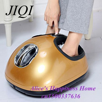 ФОТО foot roller massager electric deluxe massage machine air pressure infrared feet relax appliances Health Care Reflexology