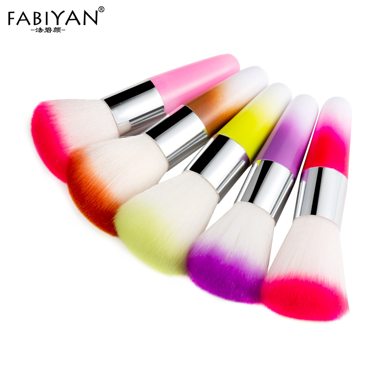 Nail Art Dust Cleaner Brush Soft Powder Glitter Tip Remover Blush Makeup Foundation UV Gel Acrylic Manicure Tool Cosmatic Beauty