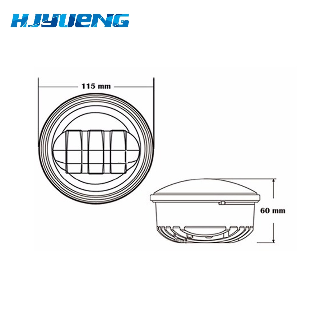 Image 3 - Motorcycle Accessories Black  led Moto Fog Lamp 4 1/2 Inch Round Headlamp for Harley  Chrome Auxiliary Lights