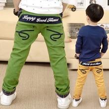 2016 Fashion kids pants child trousers boys pants casual pants for boys 100% cotton plaid roll up hem trousers