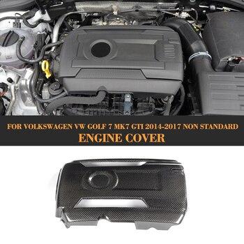 Carbon Fiber Add On Engine Cover Bonnets for Volkswagen VW GOLF 7 MK7 GTI Hatchback Only 2014 - 2017 Non Standard