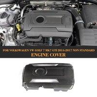 Carbon Fiber Add On Engine Cover Bonnets for Volkswagen VW GOLF 7 MK7 GTI Hatchback Only 2014 2017 Non Standard