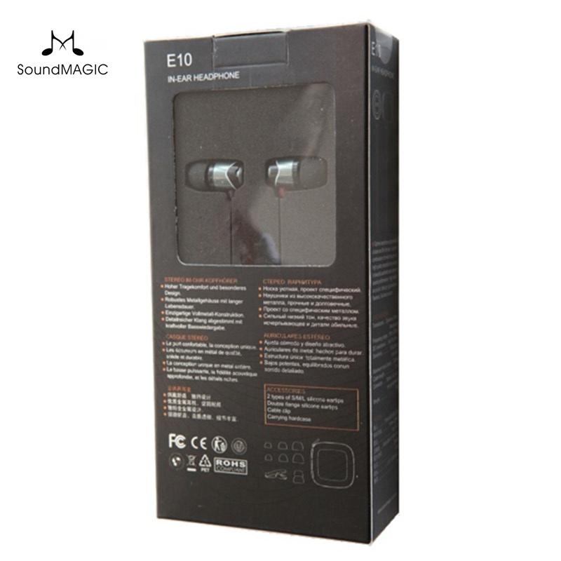 Prix pour SoundMAGIC E10 Isolation Du Bruit In-Ear Hifi Stéréo Écouteurs 100% Nouveau et original Véritable Noir, rouge, or couleur