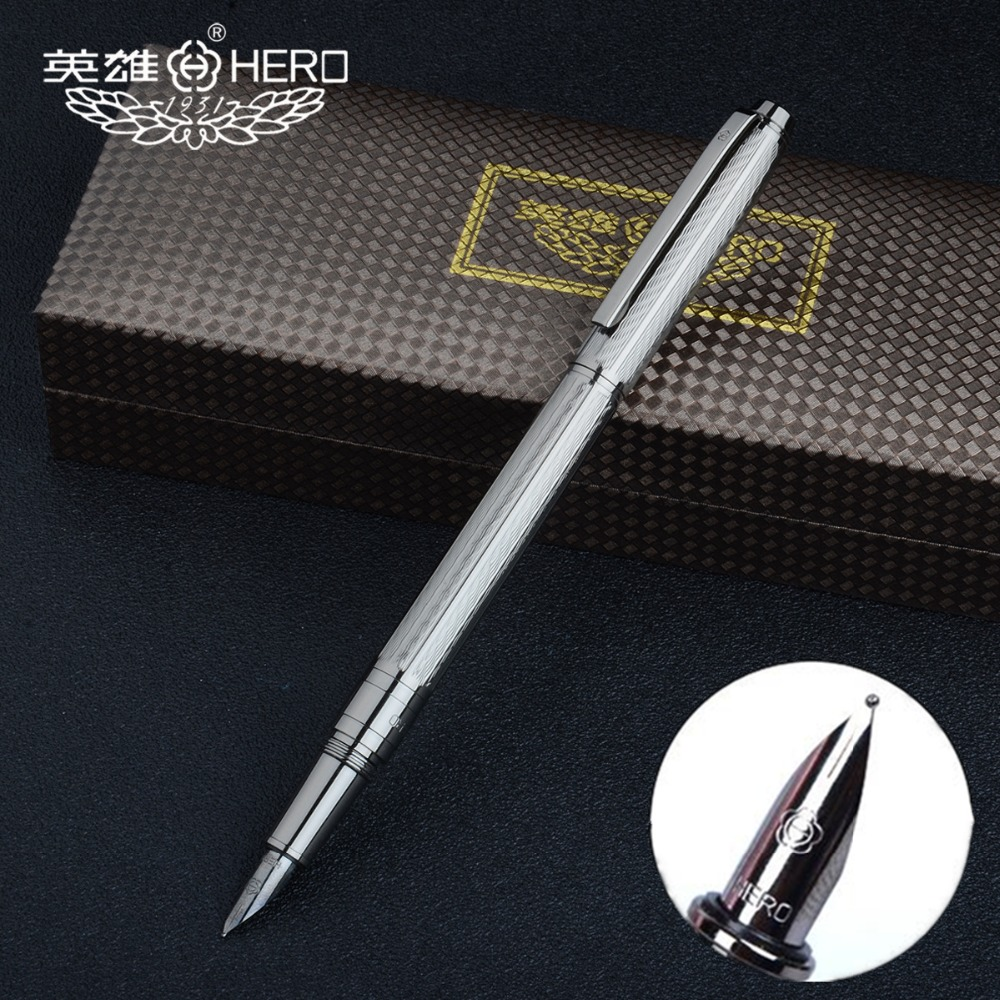 Authentic Hero R10 Grey embossed wavy texture Fountain pen with gift box Fountain pen Unique and stylish design цена 2017
