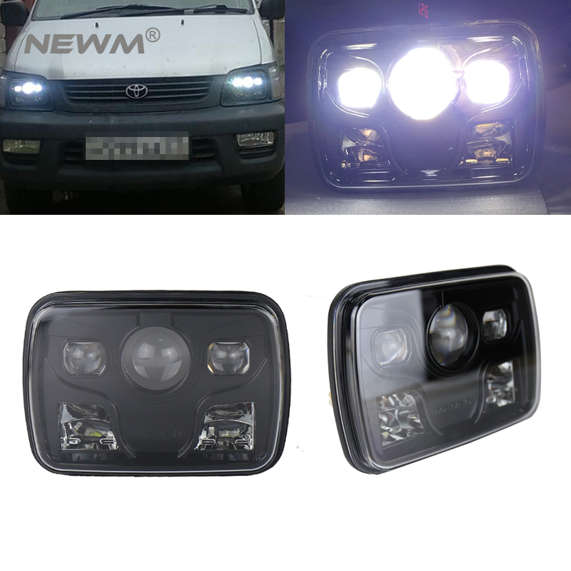 DOT approved 5 x 7 6x7inch Rectangular LED Headlights for Jeep Wrangler YJ Cherokee XJ Trucks 4X4 Offroad Headlamp Replacement pair led 5 x 7 led headlight replacement for jeep cherokee xj trucks headlights hid light drl amber turn signal for comanche page 3 page 8 page 9