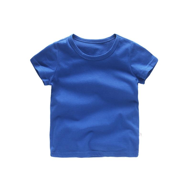 VIDMID/детская футболка Топы для маленьких мальчиков, хлопковые топы с короткими рукавами для девочек, детская одежда с героями мультфильмов, базовая цветная одежда мальчики девочки футболки 4018 29 - Цвет: as photo