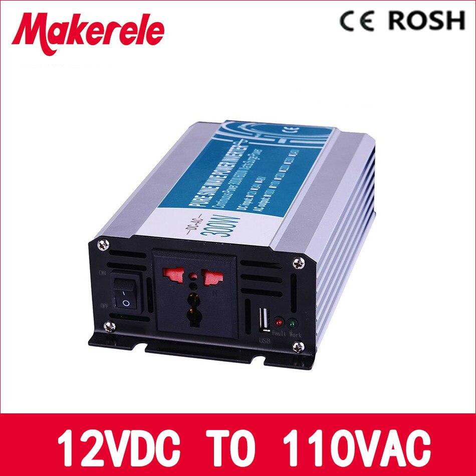 ФОТО 300W 12v dc to 110v ac  pure sine Wave inverter voltage converter off grid solar inverter electric power inversor MKP300-121