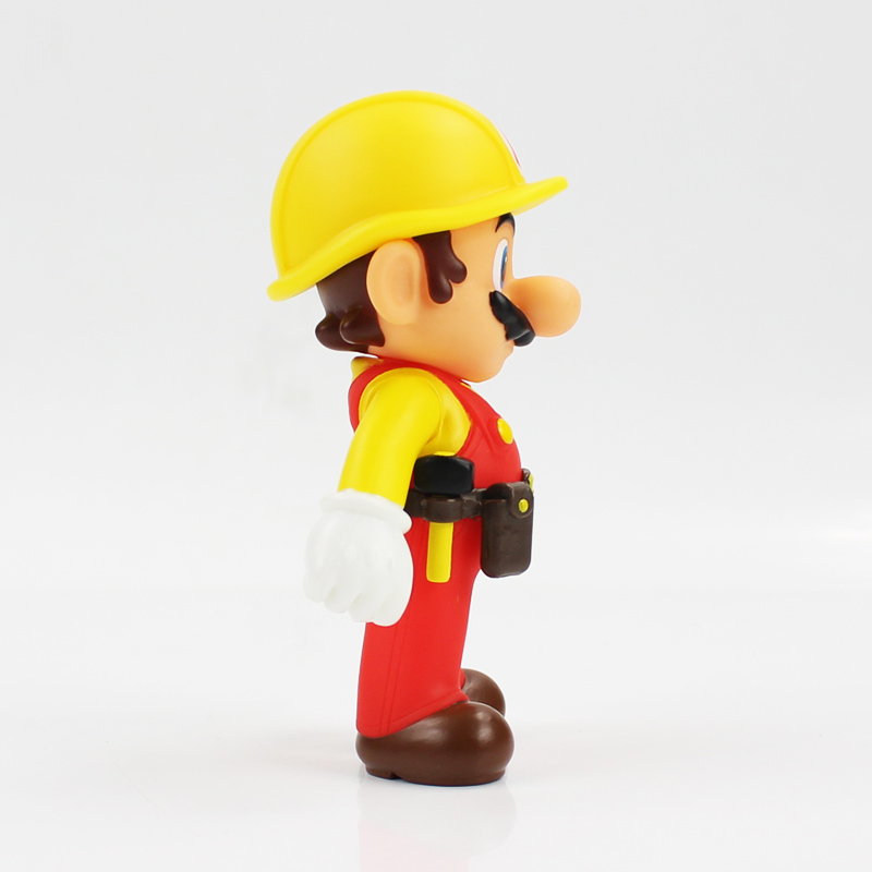 13cm The Repairman Mario Vinyl Figure Toys Super Mario Bro PVC Action Figure Toys Doll Brinquedos Kids Birthday Gifts 13