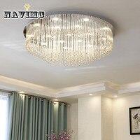 Современные светодиодные Кристалл большой круглый потолочный светильник для Гостиная Спальня украшения потолочный светильник Освещение