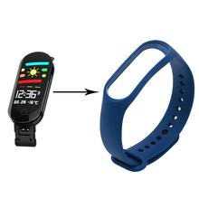 Nowe kolorowe silikonowy pasek na nadgarstek dla M3 pasek do zegarka w formie bransolety bransoletka zapasowy pasek na nadgarstek dla M3 smart watch akcesoria tanie tanio Dorosłych Wszystko kompatybilny centechia for M3 Smart Watch Accessories Brak