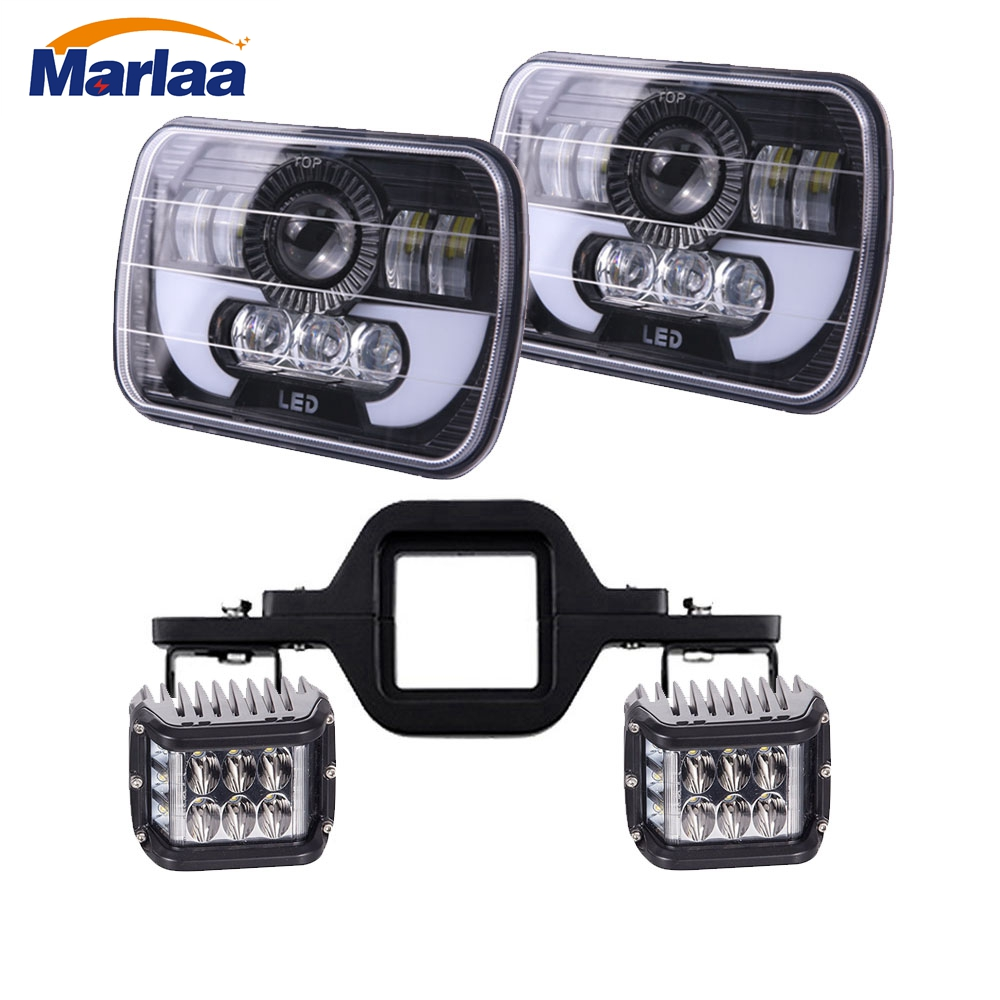 Flashing Amber Work Light Led Tow Hitch Mounting Bracket 5 X 7 LED Headlight Replacement for Jeep Cherokee XJ Trucks pair led 5 x 7 led headlight replacement for jeep cherokee xj trucks headlights hid light drl amber turn signal for comanche page 3 page 8 page 9