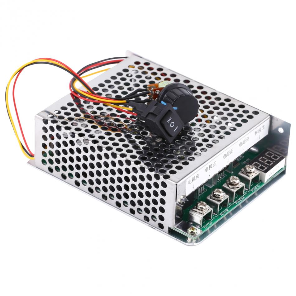 1 PC DC Motor Controller PWM Controler Governor Reversing Direction Switch With Digital Display 10V-55V 60A DC motor plc