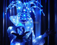LED Costume /LED Stage clothes/ Luminous costume/LED Ballet costume party/Reception clothingss