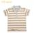 LeJin Crianças Meninos T Shirts Tops Boy Camisa Pólo Listrada de Mangas Curtas Desgaste do Verão 100% Algodão de Malha Interlock