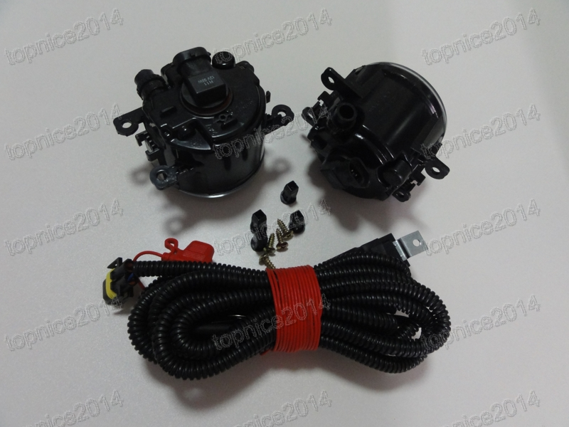 1Set New Front Driving Fog Lights With Fog Lamp Wiring Harness For Peugeot 207 307 408 Citroen C4 C5