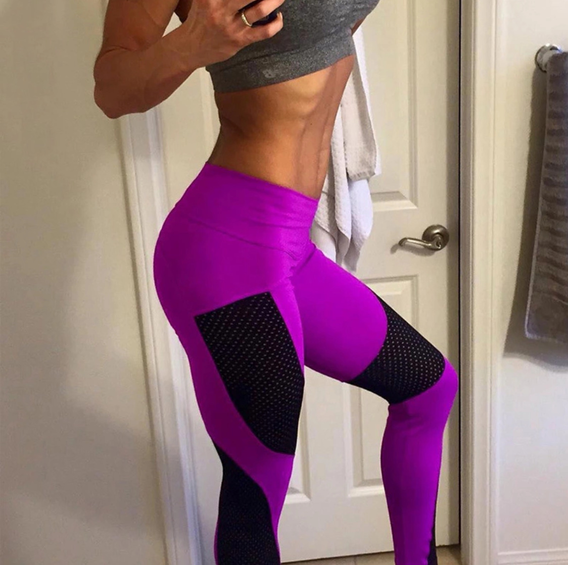 Maryigean 2019 New Quick-drying Yarn Leggings Fashion Ankle-Length Legging Fitness Push Up Workout Leggins High Waist Pants