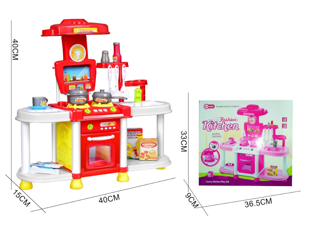 Classic toys children kitchen toys set cooking tools kids for Kids complete kitchen set