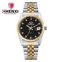 Chenxi Luxury Brand Men Business Watch Men S Stainless Steel Gold Wristwatch For Man Quartz Waterproof