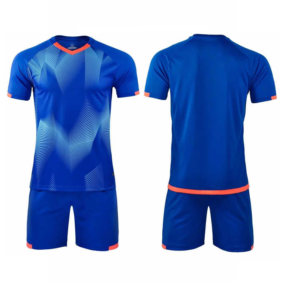 カスタムサッカーユニフォーム大人男子サッカートレーニングトラックサッカー服スポーツキット名前の数をカスタマイズとチームロゴ