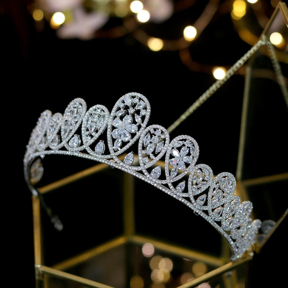 2019 nueva boda europea accesorios para el cabello corona nupcial vestido de novia joyeria