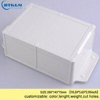IP68 Diy Project Waterdichte Junction Box Wandmontage Elektronische Doos Abs Plastic Behuizing Verdeelkast 260*143*75mm