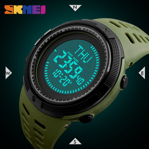 Image 4 - SKMEI Compass Hodinky Men Clock Sports Watches World Time Watch Countdown Chrono Waterproof Digital Wristwatch Relogio Masculino