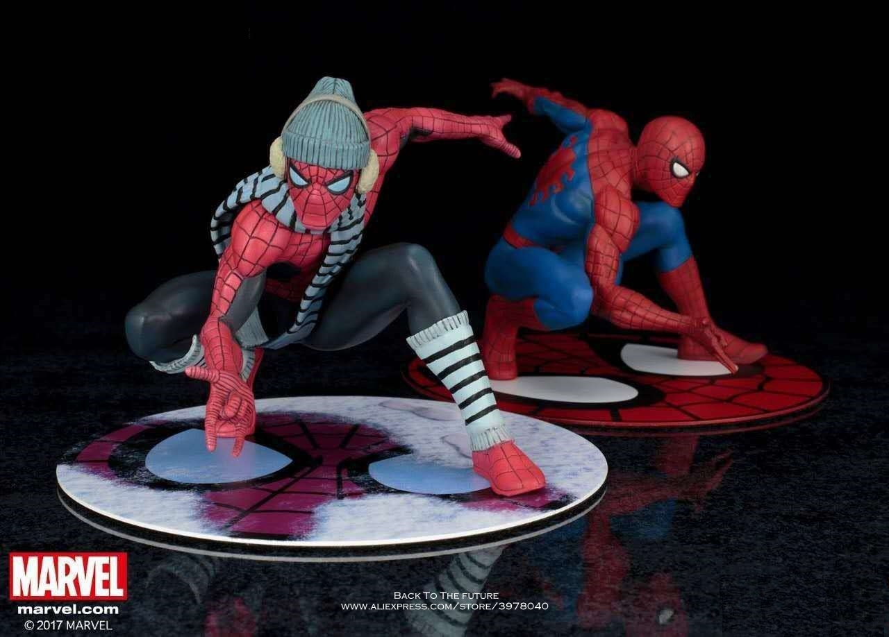 Disney Marvel Spiderman winter dress Homecoming 15cm Action Figure Anime Mini Decoration PVC Collection Figurine Toy model gift disney marvel avengers spiderman 14cm action figure anime mini decoration pvc collection figurine toy model for children gift