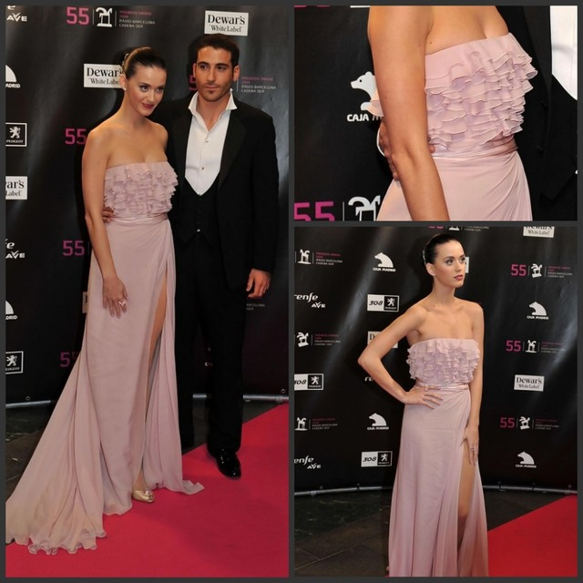 Celebrity Dress Off The Shoulder Sleeveless Tiered Bodice Front Cut Mermaid Long 2015 Katy Perry Red Carpet  Evening Dress