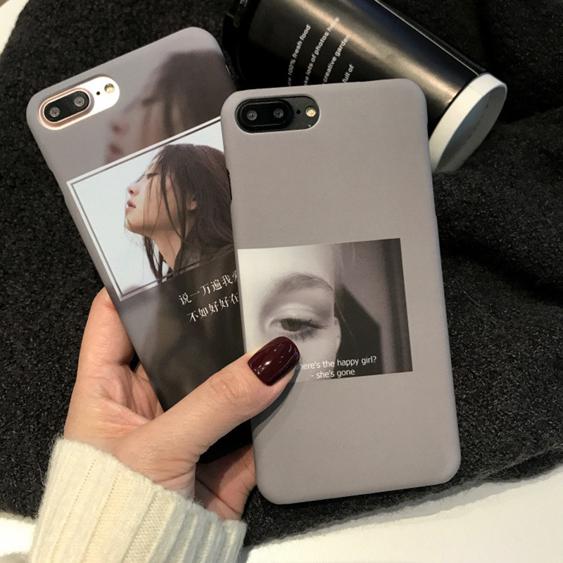 Para <font><b>iphone</b></font> <font><b>7plus</b></font> caso japonês retro legal menina filme cartaz simples caso do telefone para coque <font><b>iphone</b></font> <font><b>7plus</b></font> 6 8 6s mais caso fosco image