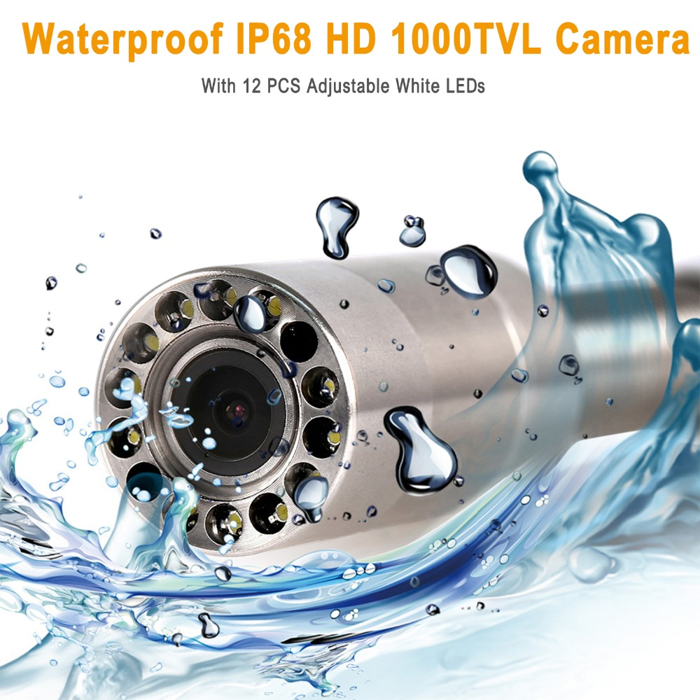 """Image 4 - SYANSPAN 7"""" Wireless WiFi 20/50/100M Pipe Inspection Video Camera,Drain Sewer Pipeline Industrial Endoscope support Android/IOS-in Surveillance Cameras from Security & Protection"""