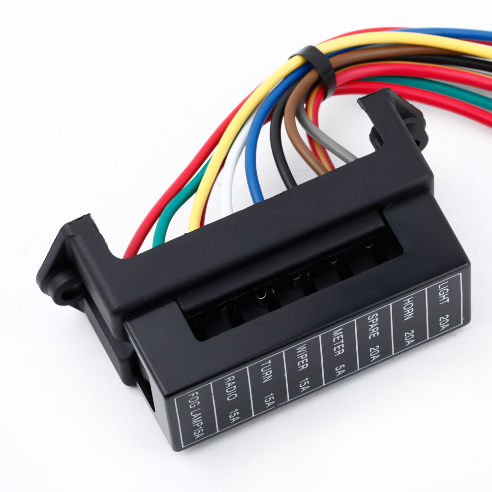 8 way dc32v circuit car trailer auto blade fuse box block holder atc ato 2 input [ 1000 x 1000 Pixel ]