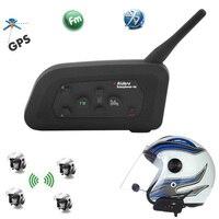 Vnetphone V4 1200M Motorcycle Helmet BT Intercom Bluetooth Football Referee Headset 4 Riders Bikers FM Waterproof