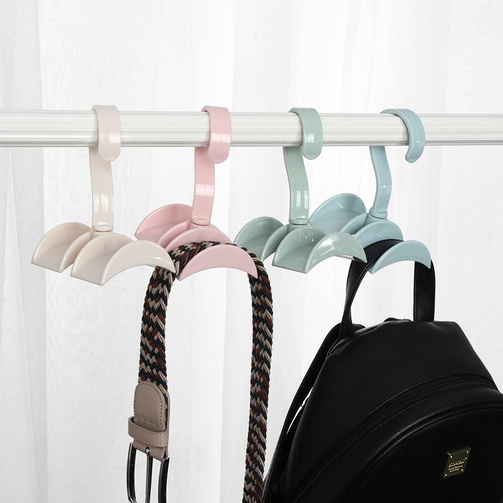 Portable Closet Organizer Rod Hanger Purse Handbag Hanging Storage Holder Hook