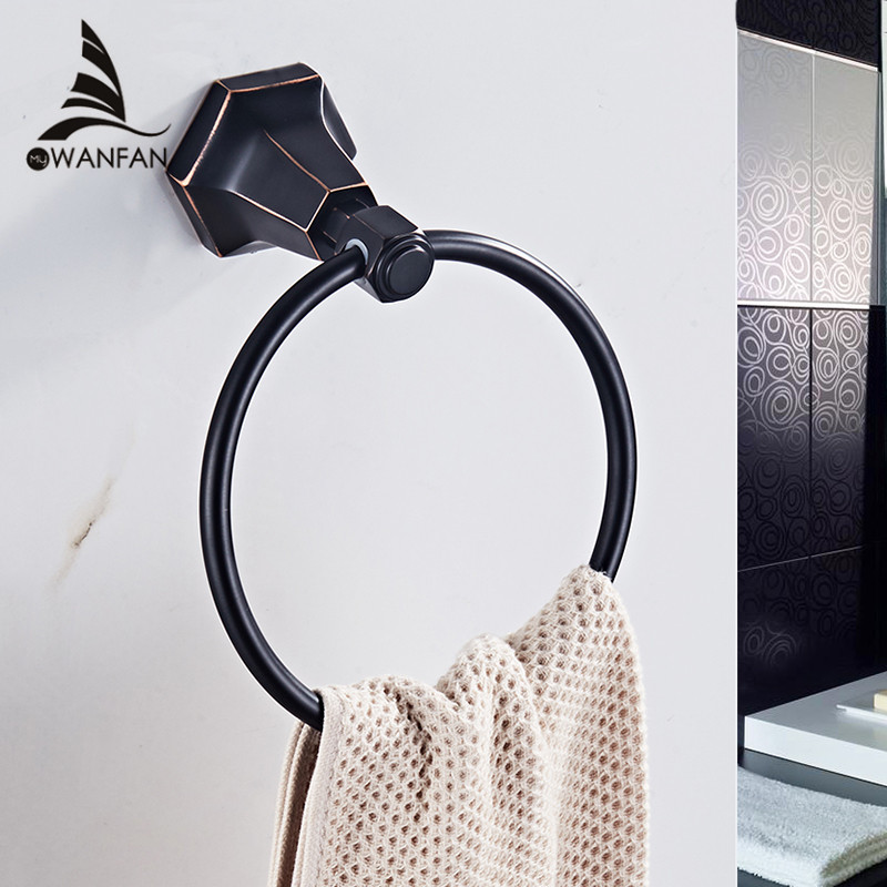 Towel Rings Solid Brass Gold Wall Mounted Towel Holder Hangers Towel Rack Bathroom <font><b>Accessories</b></font> Home Decoration Towel Bar 93007