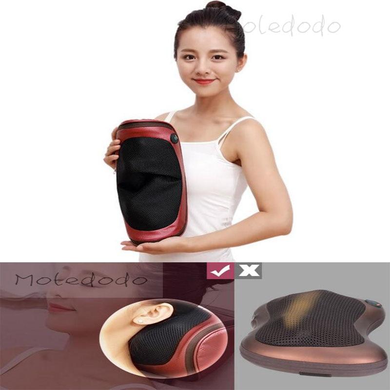 ФОТО 1PC Moledodo High intelligence cervical massage Body Spa Massage Pillow Straps Press Massager  17E25