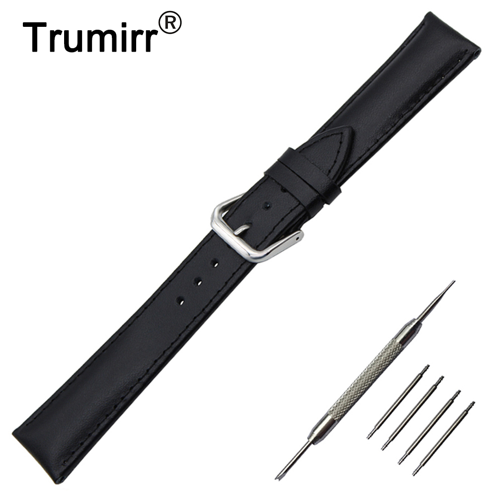 Genuine Leather Watch Band 18mm 20mm 22mm for Timex Weekende