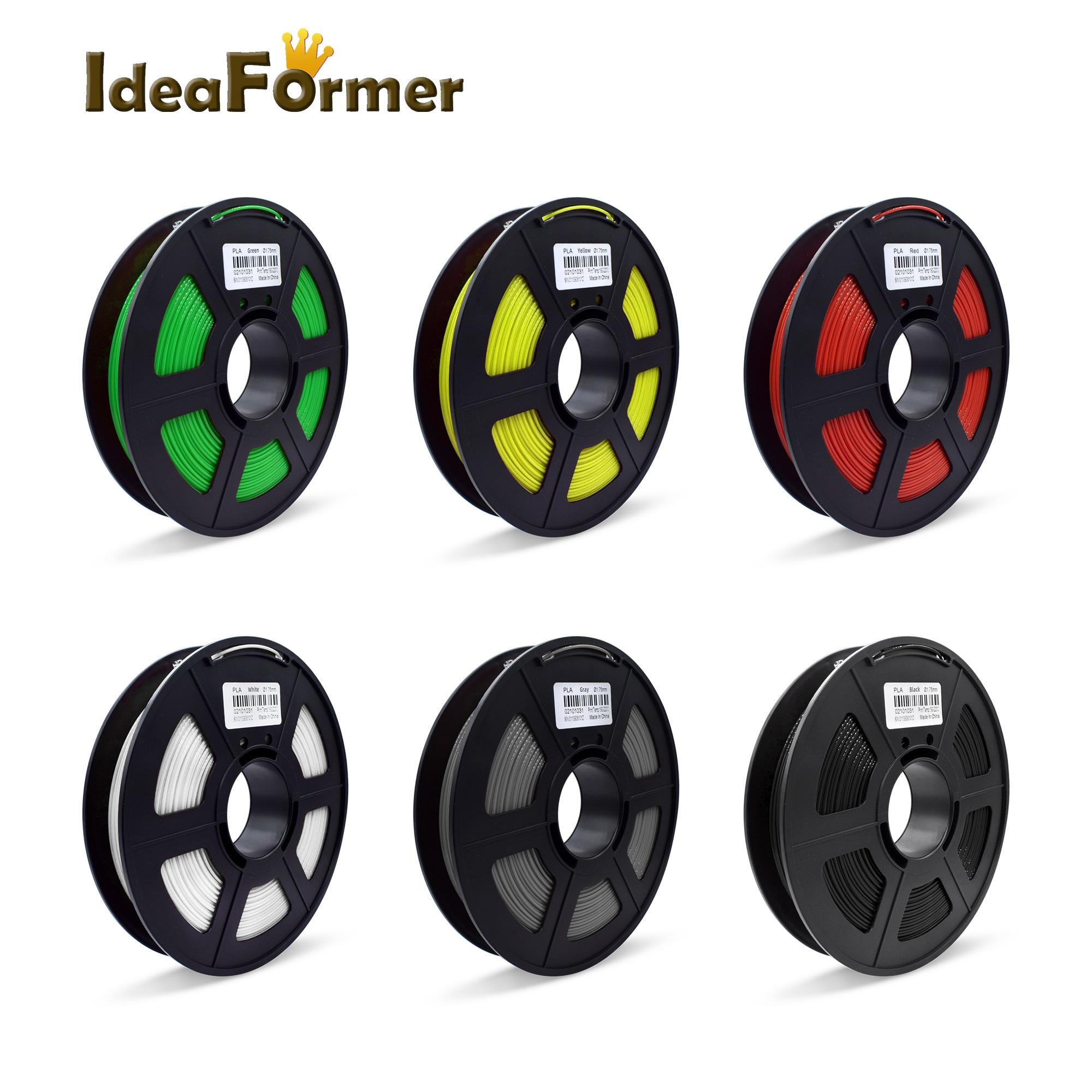 filamento pla 175mm que imprime branco preto 05