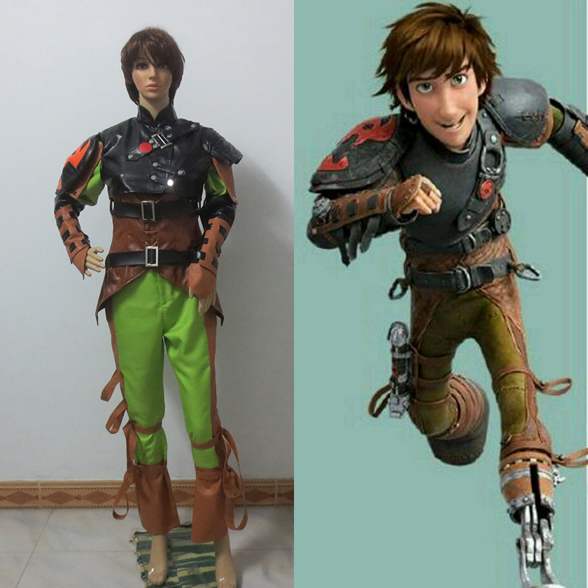 New Arrived N-C-P-8 New Costume Made Highly Quality How to Train Your Dragon 2 Cosplay Costume Hiccup Costume Set