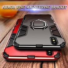Shockproof Carbon Fiber Armored Magnetic Case For iPhone