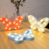 Lovely Butterfly LED Night Light Plastic Marquee Letter Light Lamp Beautiful Home Decorative Wall Nightlights Christmas