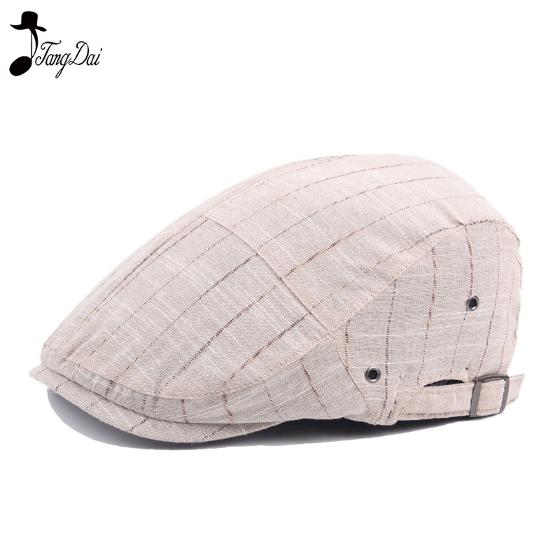 Unisex Visor Cap Golf Hat Driving Hat Newsboy Cap Cotton Spring Autumn Plaid Beret for Man and Woman Retro Casual Flat Cap